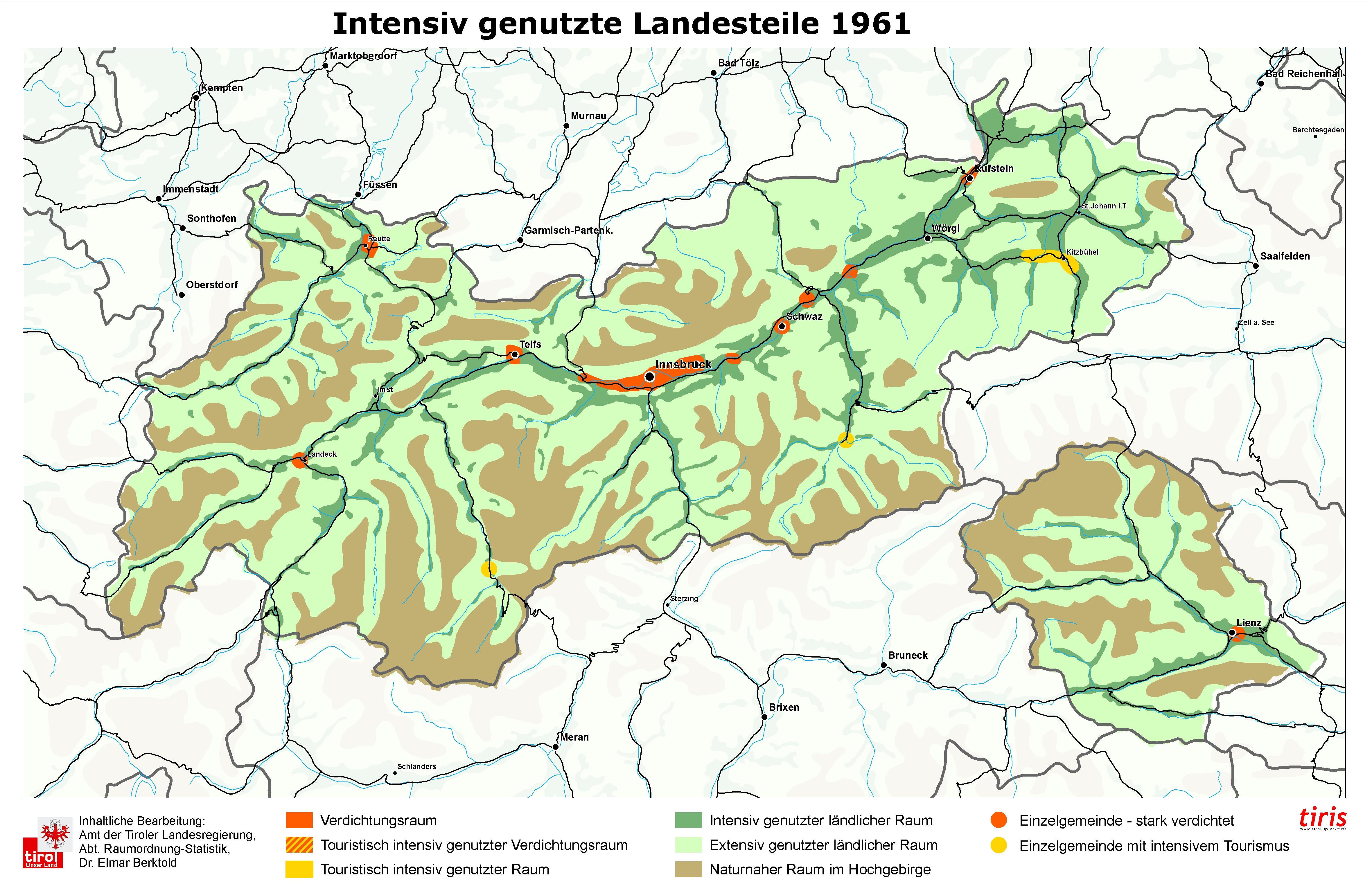 Karte Tirol.Fachgrundlagen überörtlich Land Tirol